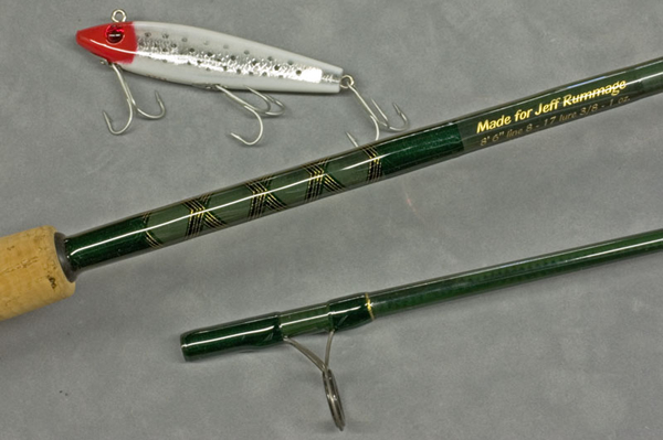 Custom rod with lure